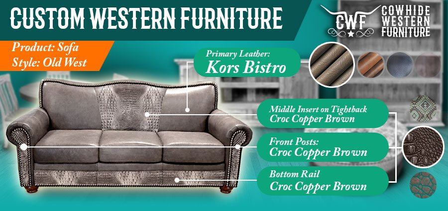 Affordable Western Style Living Room Furniture S Dallas Texas Cowhide
