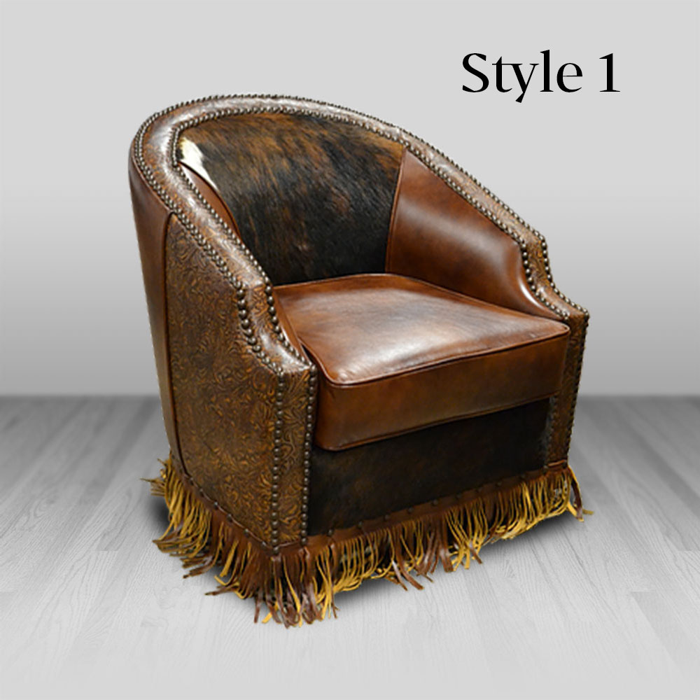 Bronco Chair Cowhide Western Furniture