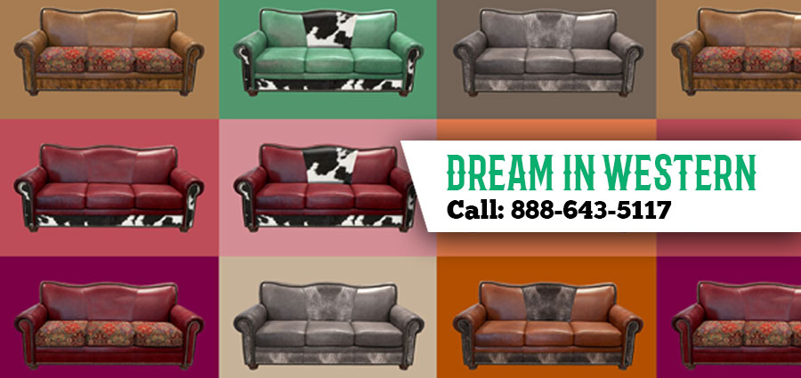 Affordable Western Style Living Room Furniture Stores Dallas Texas    Cowhide Western Furniture
