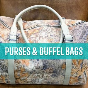 purses and duffle bags