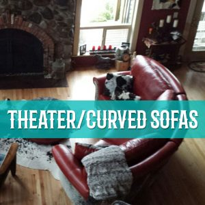 theater curved sofas