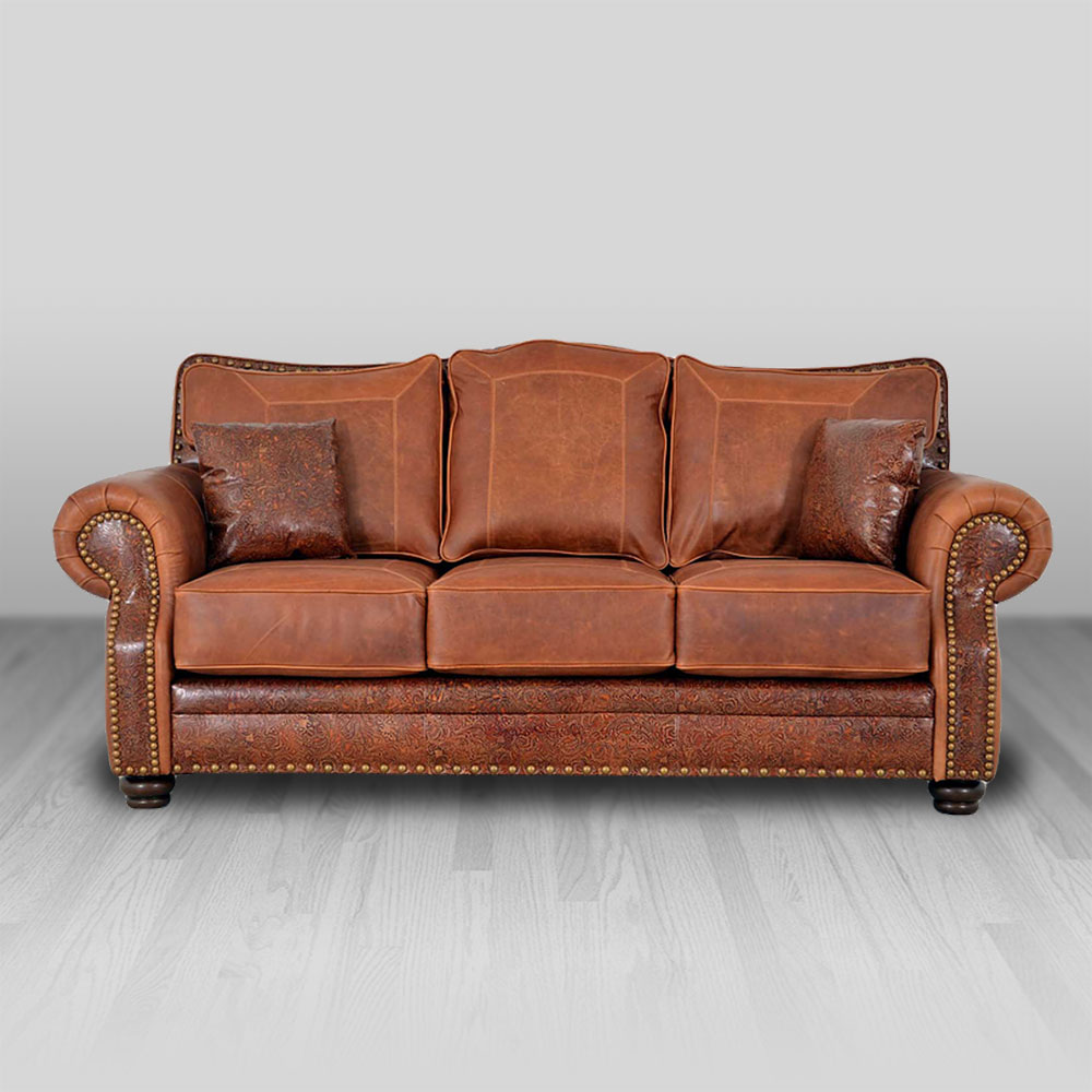 Kennedy Sofa Cowhide Western Furniture
