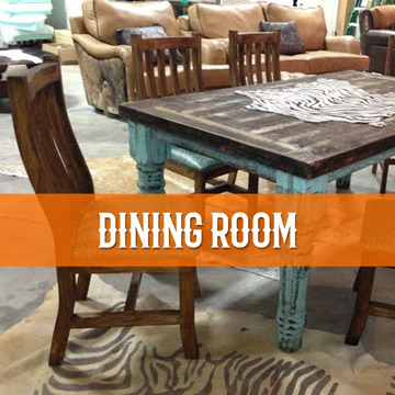 cowhide western furniture dining room category
