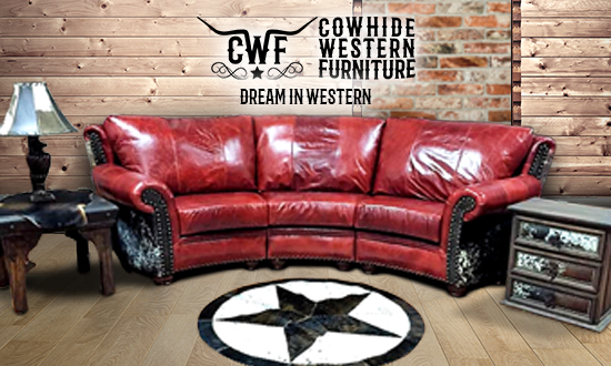 cowhide western furniture furniture piece picture