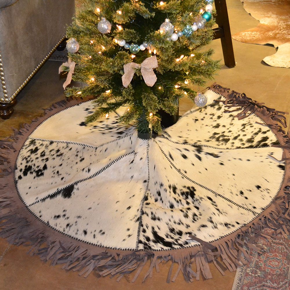 Christmas Tree Skirt Cowhide Western Furniture