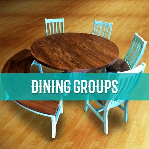 cowhide western furniture dining groups