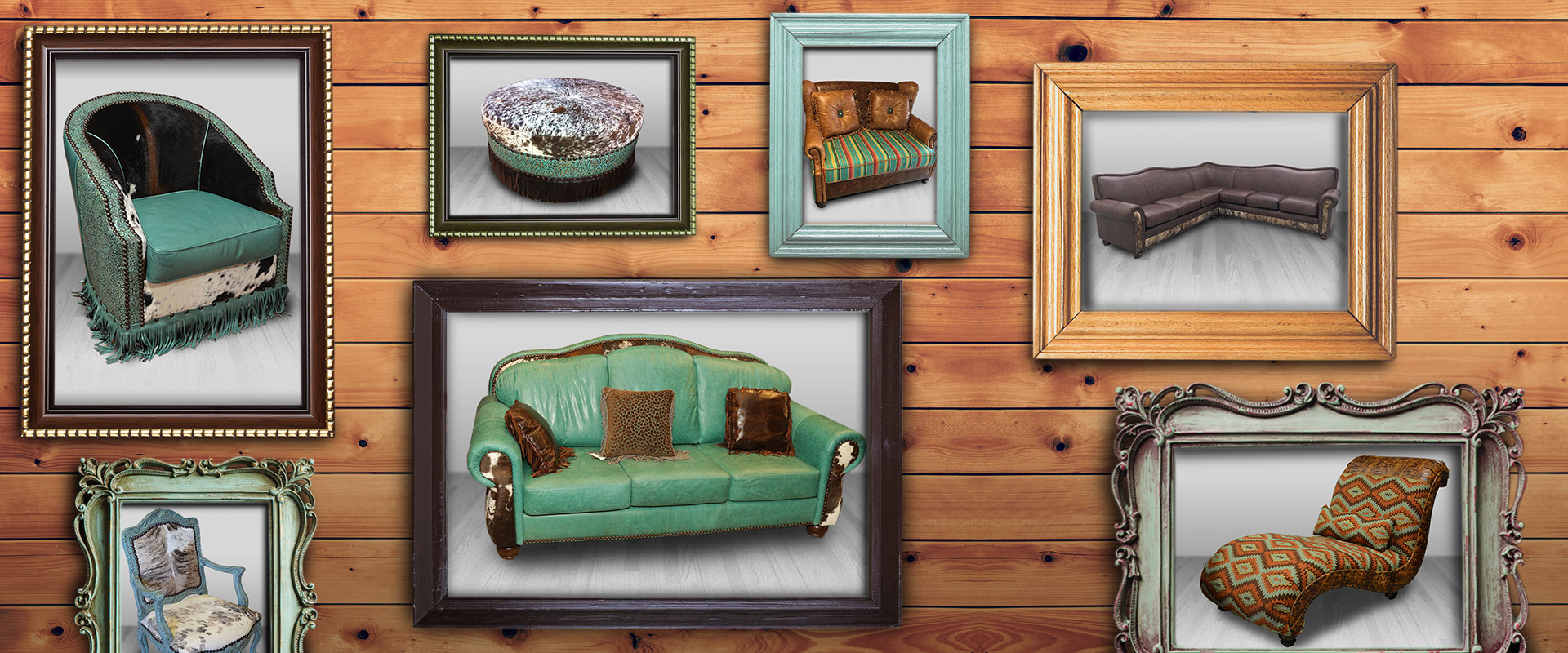 Rustic Leather Living Room Furniture Sets Usa Cowhide