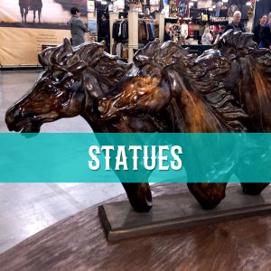 cowhide western furniture accessories statues