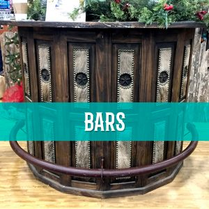 cowhide western furniture bars
